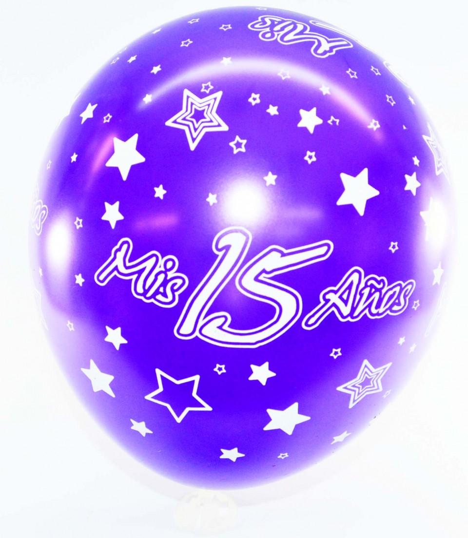 Globo morado 15 a os helio globos adiciones y regalos for Globos para quince anos