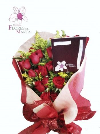 Ramillete Rosas Rojas